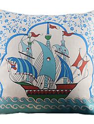 Симпатичный мультфильм Парусник Pattern декоративным покрытием Подушка