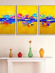 Enmarcado Abstract Canvas Print Juego de 3