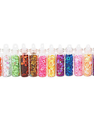 12PCS Multi-style Star-shaped Nail Art Decorations