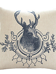 Deer Head coussin décoratif peint à la main de la belle couverture Vivement David
