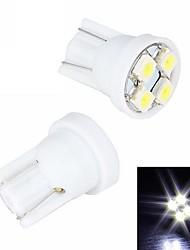 Merdia 4W 110LM T10 4x3528SMD светодиодных Белый Свет номерного знака / Инструмент лампа (2 PCS/12V)