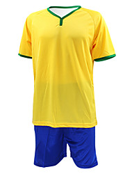 Men's Short Sleeves Soccer Suit Yellow & Blue