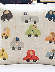 Pop niedliche Cartoon-Autos In Mischfarben Dekorative Kissenbezug