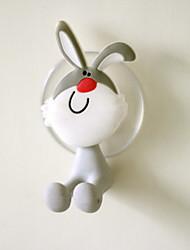 PVC dos desenhos animados de sucção porta-escovas (cor aleatória)