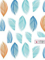 2шт печатание перехода воды мультфильм ногтей наклейки № 3 (разных цветов)
