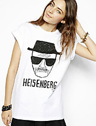 Women's T-Shirts , Cotton Casual/Work BAD GIRL