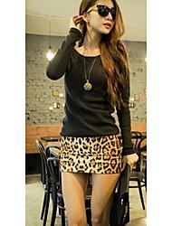 Piel de leopardo vestido de las mujeres DuogLMu 993