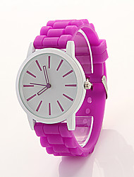 Cdong Big Dial  Silicone Watch (Light Purple)