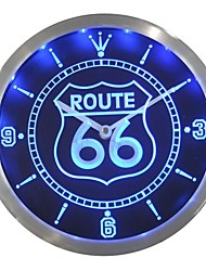 nc0315 Route 66 Bar Beer Neon LED Wall Clock Accedi