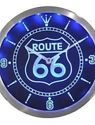 nc0315 Route 66 Bar Beer Neon LED Horloge murale Connexion