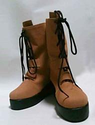 Maschinen-Puppe wa Kizutsukanai Yaya Erde Gelb Lace-up Boots Cosplay