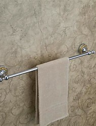 Contemporary Style Wall Mounted Chrome Finish  Brass Towel Bar