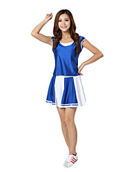 Cosplay Costumes Uniforms Festival/Holiday Halloween Costumes Red / Blue Patchwork Top / Skirt Halloween / Carnival Polyester