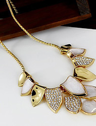 Ovish Women'S Leaf Fashion Korean Style Exagger Short Necklace