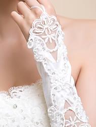 Ellebooglengte Zonder vingers Satijn Bruidshandschoenen/Feest/uitgaanshandschoenen Handschoen