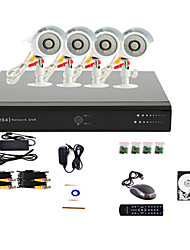 4 Channel CCTV DVR System(4 Outdoor Warterproof Camera,PTZ Control)1TB Hard Drive