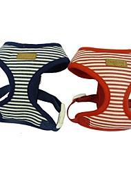 Adjustable Striped Sailor Dog Harness for Pets Dogs
