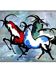 Peint à la main peinture abstraite avec cadre étiré prêt à accrocher