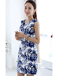 Coco Sunday Women's  Sleeveless Floral Print Dress