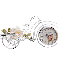 "21 ""H Blanc Tricycle style de table Horloge"