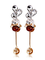 Mingluan Women's  Crystal Dangling Earrings