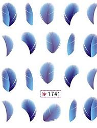 4PCS Красочные печатание перехода воды Мультфильм ногтей наклейки № 2