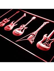 guitarras bar banda arma cerveja sinal de luz neon