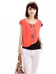 Women's Blue/Orange/Red T-shirt Sleeveless