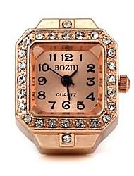Unisex Square Pattern Quartz Metallic Ring Watch   Cool Watches Unique Watches