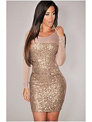 Women's Sequin Mesh Bodycon Dress