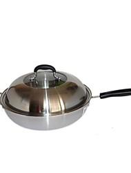 asd ® antiadhésif poêle à frire en acier, w52.5cm x l32cm xh9cm
