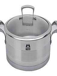 padnigr ® 6 aço inoxidável qt panela de sopa com tampa, w28cm x l28cm x h9cm