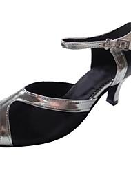 Satén de las mujeres clásicas personalizar con Pu Correa Danza Zapato Para América