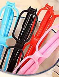 Funny Glasses Shaped Ball Pen (Random Color)