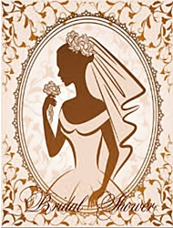 "Personalized ""Beautiful Bride in the Mirror"" Bridal Shower Cards - Set of 12"
