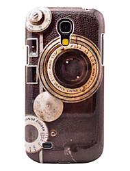 Retro-Kamera-Pattern Festplatte zurück Fall für Samsung Galaxy S4 Mini I9190