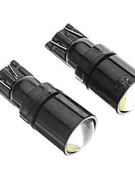 T10 2W 6000K Cool White Light Bulb LED para carro (12V, 2pcs)