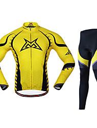 MYSENLAN Herren 100% Polyester Langarmshirt Quick Dry Suit Radfahren M02041