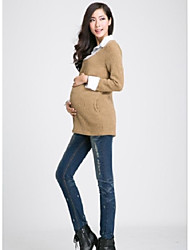 Maternity Casual Jeans Pants , Cotton Blends Stretchy