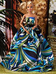 6 Pcs Barbie Doll Dreaming Maravilhas estilo princesa Noble vestido