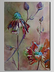 Hand Painted Oil Painting Floral Abstract Flower in The Nest with Stretched Frame