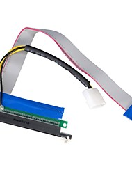 PCI-E 1X to16X Powered Flexible Riser Extender Kabel mit Molex 30cm