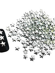 100PCS Star Punk Silver Rivet Nail Art Decorations