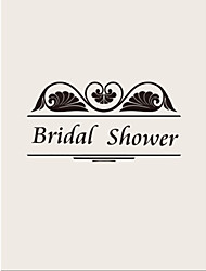 Personalized Gray Double Side Vertical Bridal Shower Cards - Set of 12