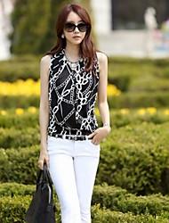 Estilo coreano camisa sem mangas de forma magro colete JIANFANSU mulheres