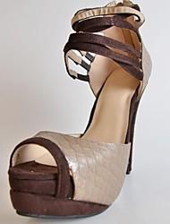 bc Schlange Frauenpfennigabsatz Plattform Sandalen