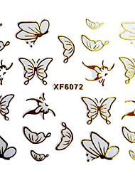 3D Design Borboleta Hot Stamping Nail Art Stickers XF Series