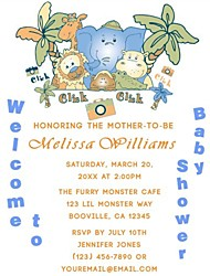 Personalized Baby Shower Cards - Set of 12