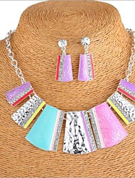 European Fashion Multicolor Resin (Necklaces&Earrings) Gemstone Jewelry Sets