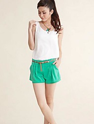 Frauen Casual Solid Color Chiffon Shorts